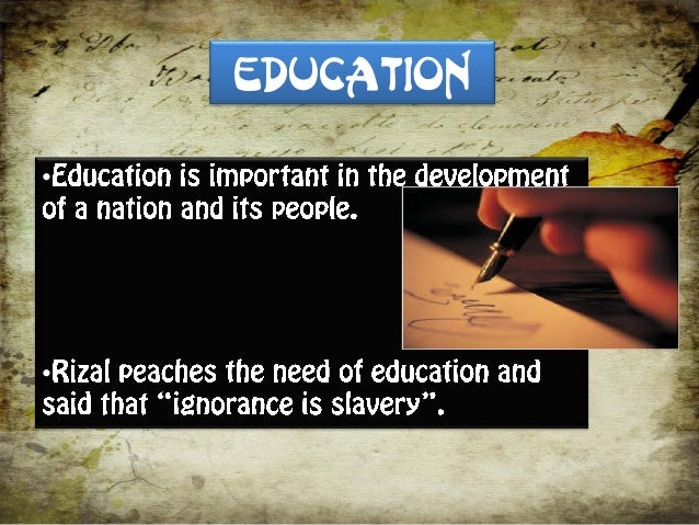 ideals of rizal in education