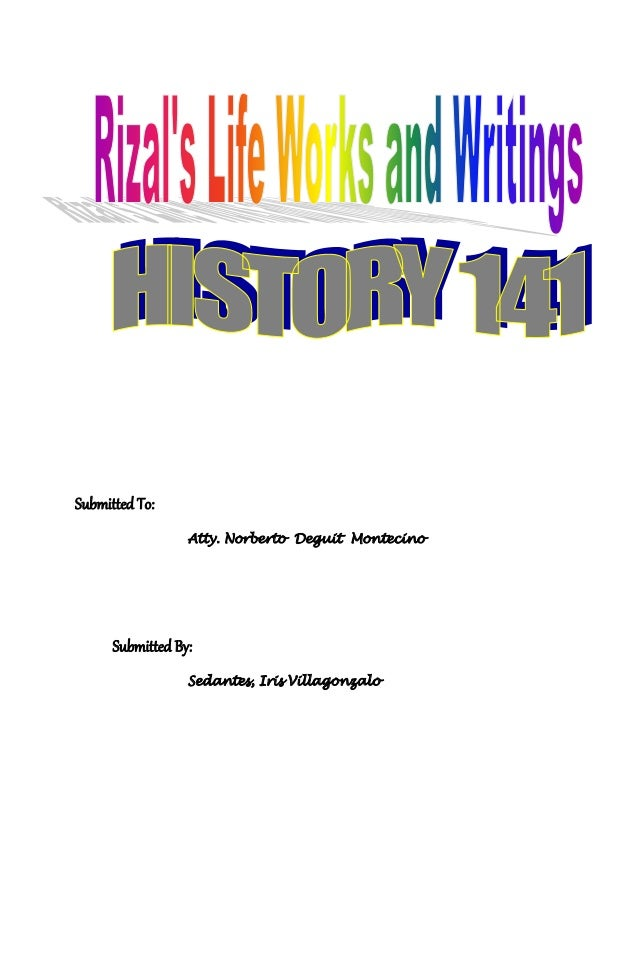 Chapter 3 4 reaction paper of rizal s life and writings