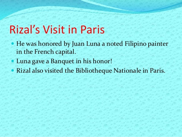 rizals travel Rizal's true love in london 13k  the filipino national hero seemed so 'obsessed' with the sucesos that it caused him to travel to london just for that.