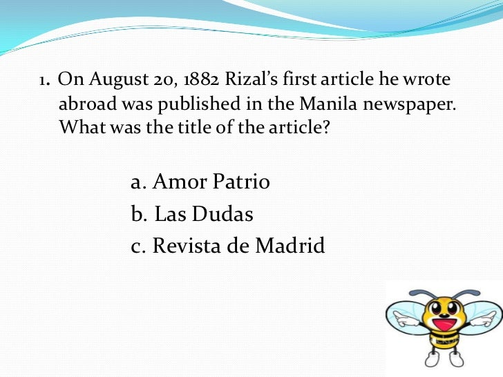 message in amor patrio by rizal Amor patrio dates back to his years at the ateneo municipal de manila the study  of  rizal's political message was not lost on the spaniards who read it, for his.