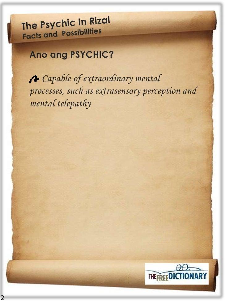 Was rizal psychic