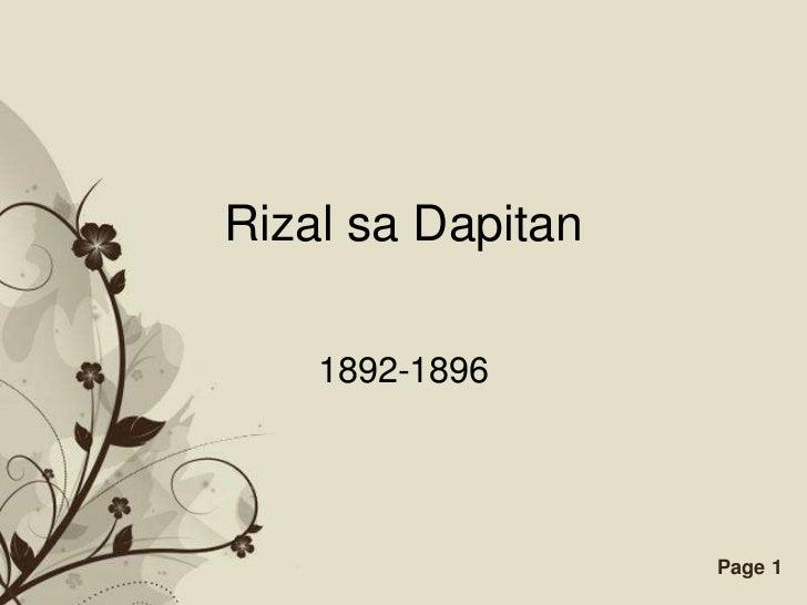 Rizal sa dapitan rizal sa dapitan 1892 1896 free powerpoint templates toneelgroepblik Choice Image
