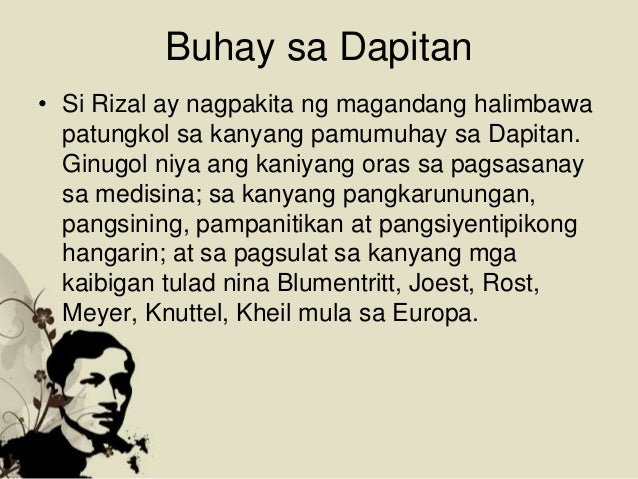 """tagalog na reaksyon paper sa rizal Reaction paper for the movie """"rizal sa dapitan"""" """"difficulties are not the reasons to give up but an inspiration to move on"""" this dictum i think was on the."""