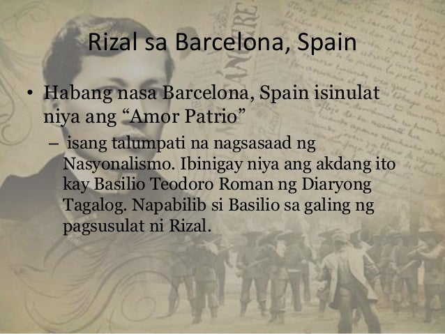 el amor patrio essay What is el amor patrio love of one's country, patriotism, rizal first nationalistic essay where he urged the filipinos to love their motherland.