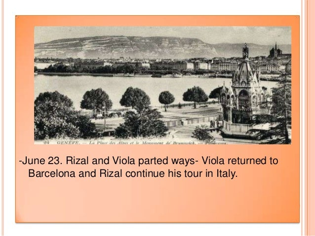 Time Line of Jose Rizal's Travels Paper