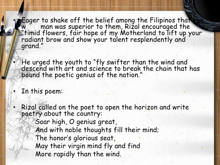 Rizal's intellectual legacy in selected poems 2