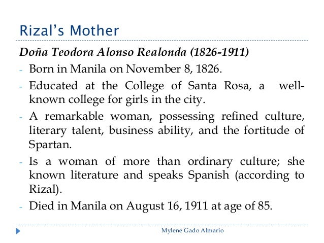 essay of rizals life Early life: on june 19, 1861, francisco rizal mercado and teodora alonzo y quintos welcomed their seventh child into the world at calamba, laguna.