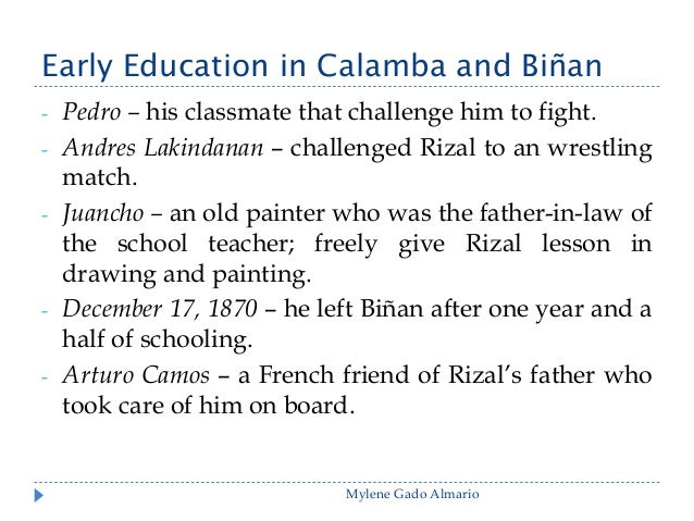 ?Early Education in Calamba and Binan Essay - Part 2