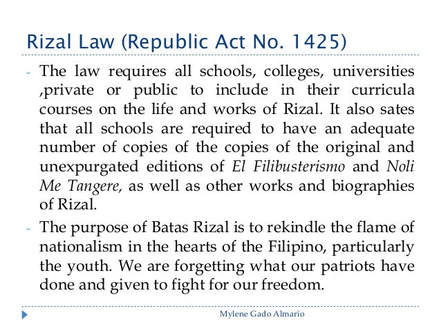 define rizal law