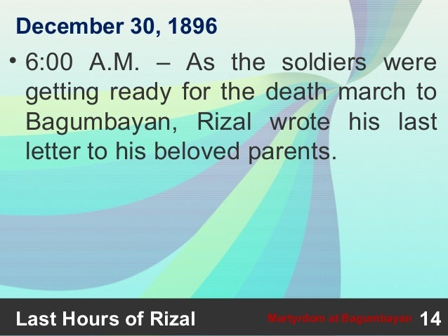 reaction about rizal s martyrdom at bagumbayan We often come up with a theme such as the abovementioned to arouse the nationalistic fervor of the people and join hand in hand in the celebration of rizal's martyrdom another reason for the said celebration is perhaps to bring the filipinos together as they immortalize rizal and his significance in.
