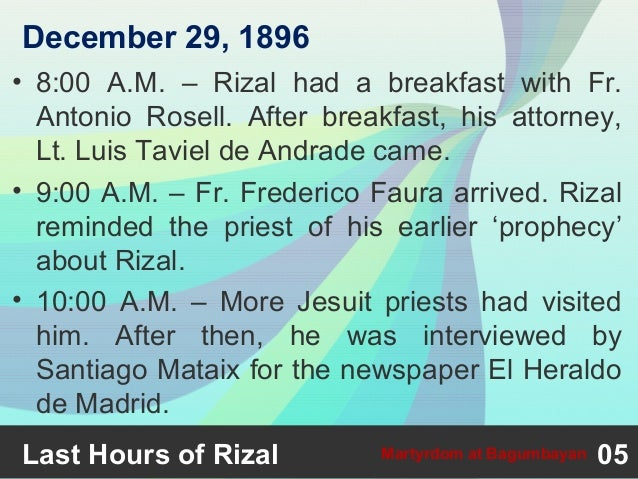 reaction about rizal s martyrdom at bagumbayan Every year, on december 30, the nation observes rizal day to recall the nationalism and martyrdom of the great national hero dr jose p rizal, who was executed by.