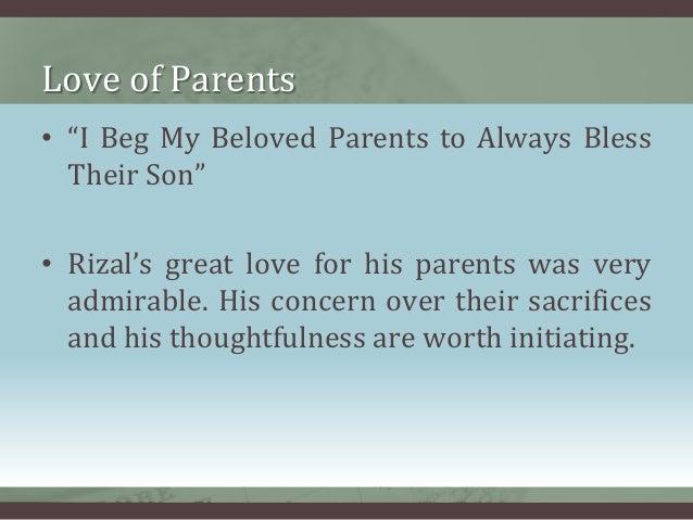 Moral lesson of rizal s life