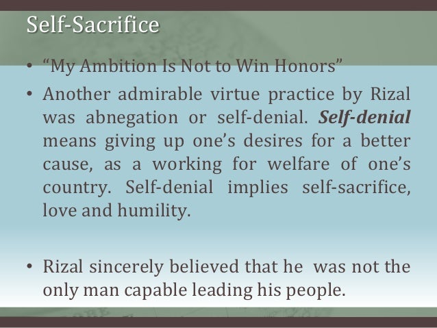 Self Sacrifice Examples