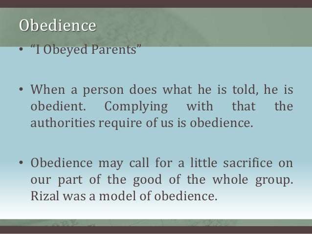 Essay on obedience