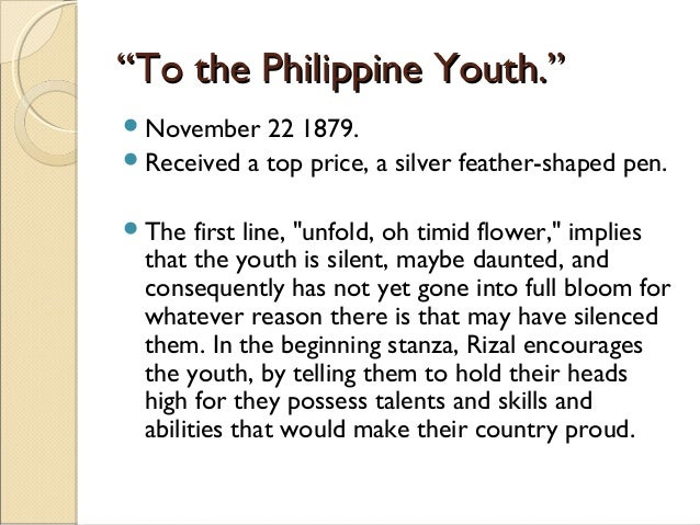 to the filipino youth meaning every stanza