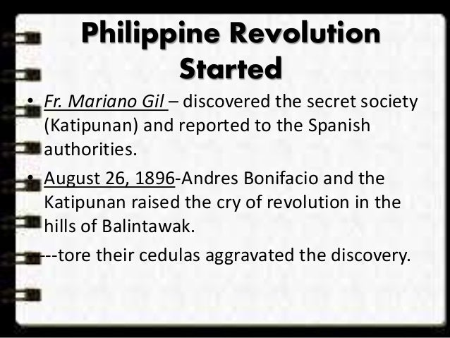 the discovery of the katipunan Initially, katipunan was a secret organization until its discovery in 1896 that led to  the outbreak of philippine revolution the word katipunan (literally means.