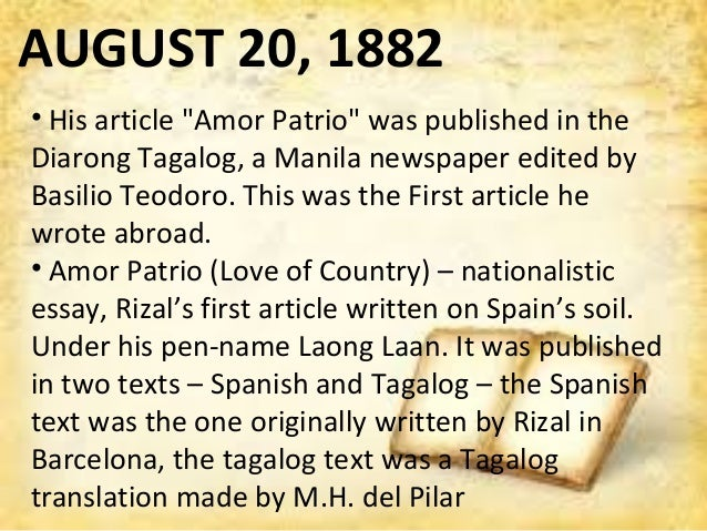 Jose Rizal First Travel Abroad