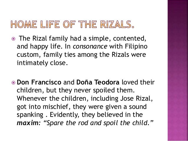 describe the background of rizals ancestry that might have contributed to his life and education