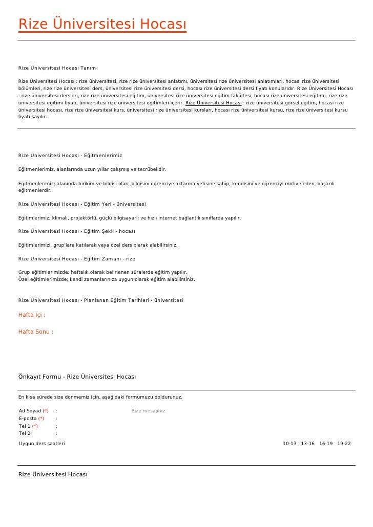 Rize Üniversitesi HocasıRize Üniversitesi Hocası TanımıRize Üniversitesi Hocası : rize üniversitesi, rize rize üniversites...