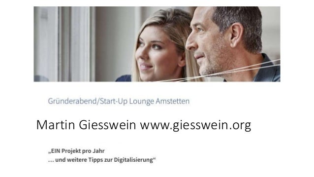 Martin Giesswein www.giesswein.org