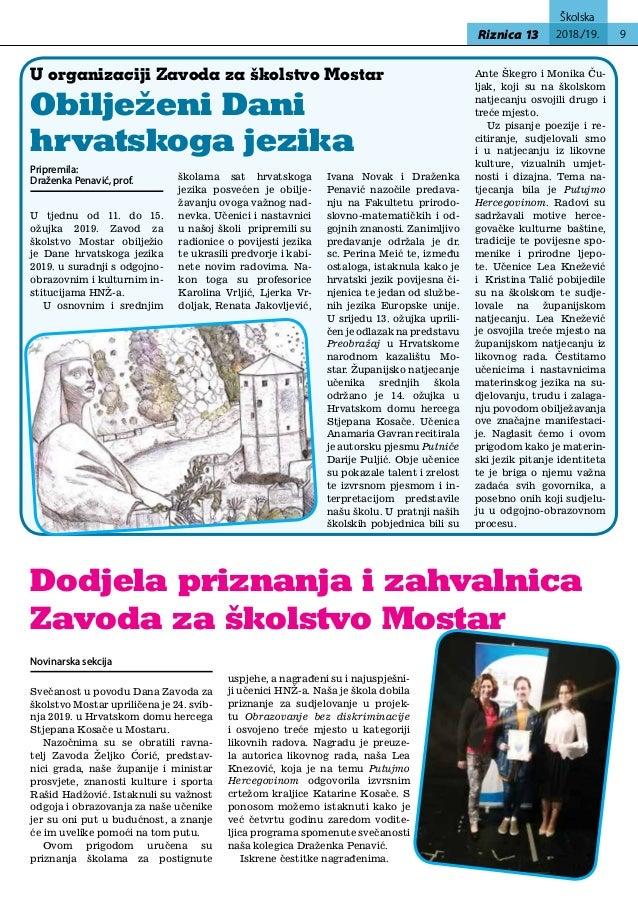 Sportske gimnazije u Zagrebu i stalni član povjerenstva za upise u gimnaziju.