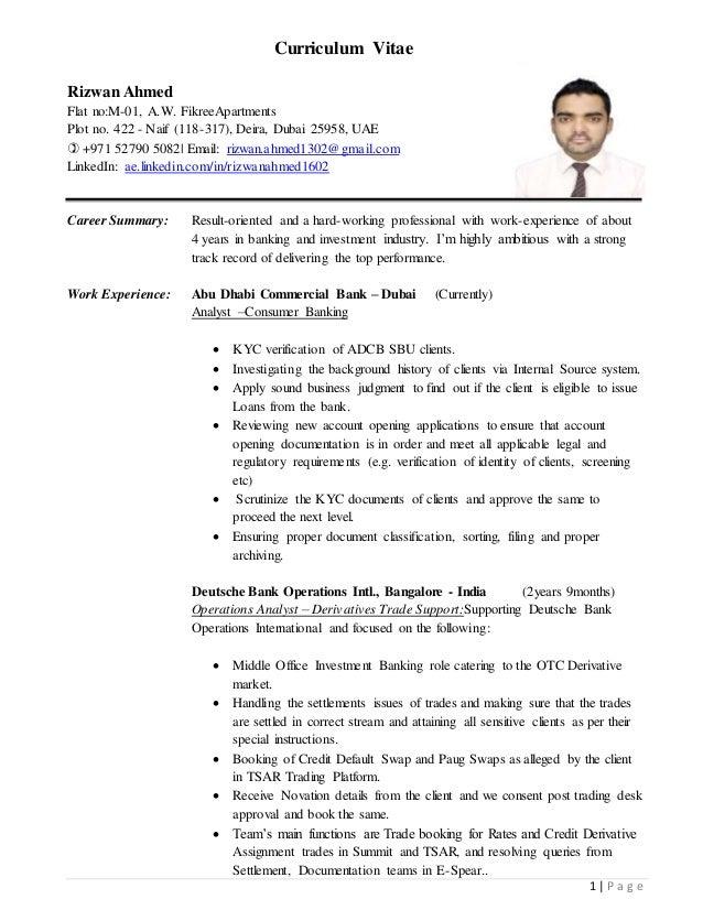 rizwan ahmed cv adcb