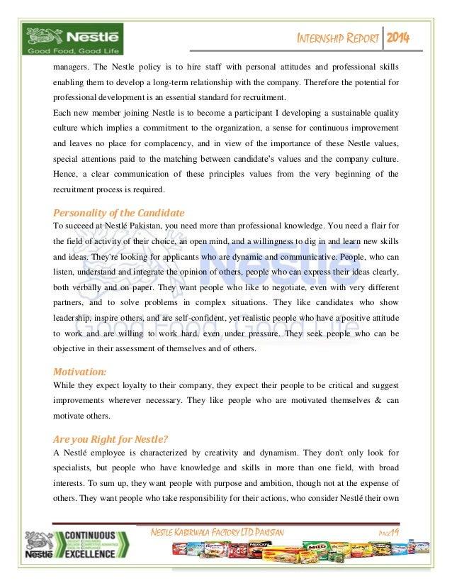 internship report on nestle Internship report on nestle pakistan on hrm and finance as well marketing,internship report nestle marketing,internship report nestle hrm.