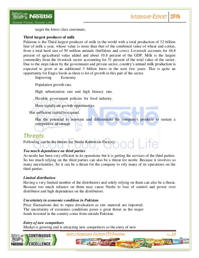internship report of nestle Report problems  apply online for the nestle supply chain management graduate  apply online for the nestle industrial engineering graduate / internship .