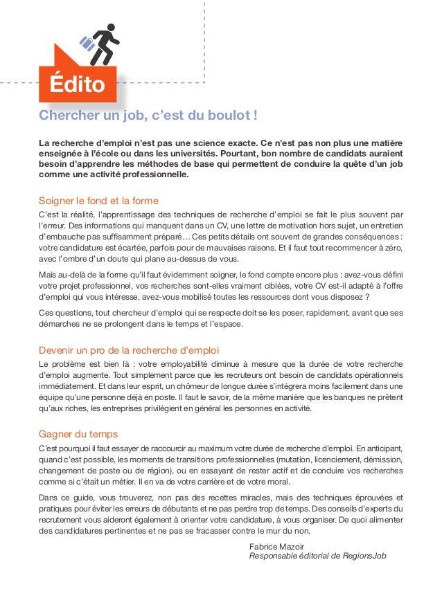 Bien Chercher Un Emploi Le Guide En 50 Pages