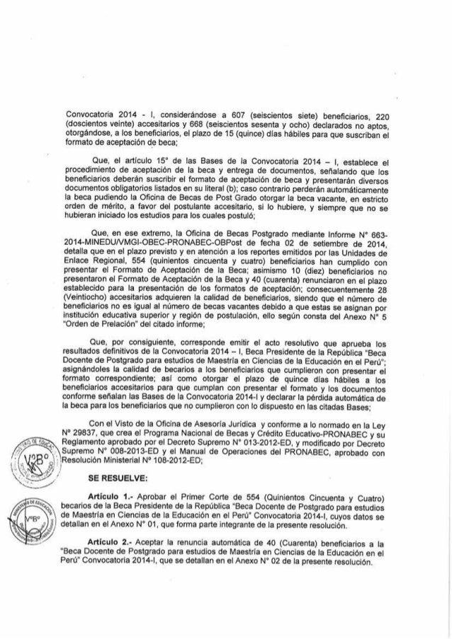 BECARIOS MAESTRÍA EN CIENCIAS DE LA EDUCACIÓN 2014 Slide 2