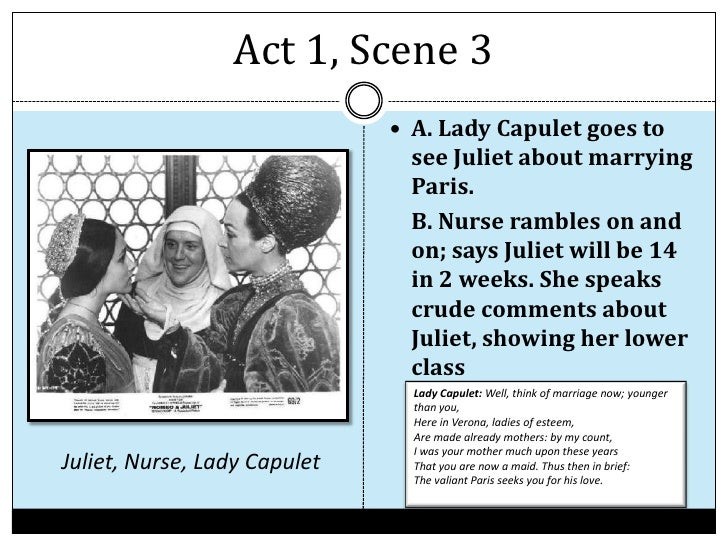 romeo and juliet act 1 summary This lesson is a summary of ''romeo and juliet'', act 1, scene 2 in this lesson, you will see learn how romeo, a montague, comes to be 'invited' to a feast of his family's enemy, setting up his.