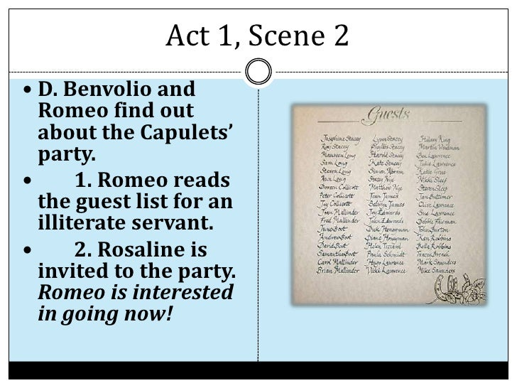 Romeo And Juliet Act 1 Summary