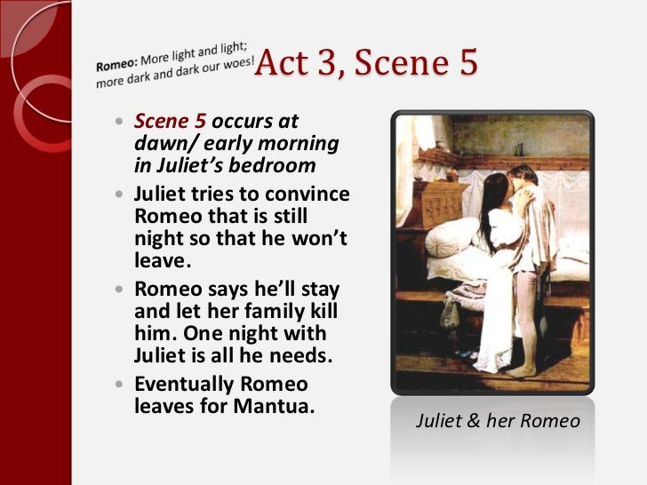 romeo and juliet act summary notes act 3 scene
