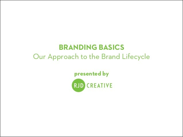 BRANDING BASICS Our Approach to the Brand Lifecycle presented by