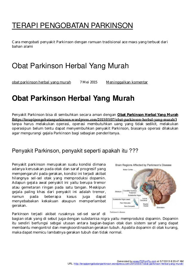 TERAPI PENGOBATAN PARKINSON Cara mengobati penyakit Parkinson dengan ramuan tradisional ace maxs yang terbuat dari bahan a...