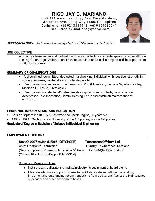rjm resume updated technician