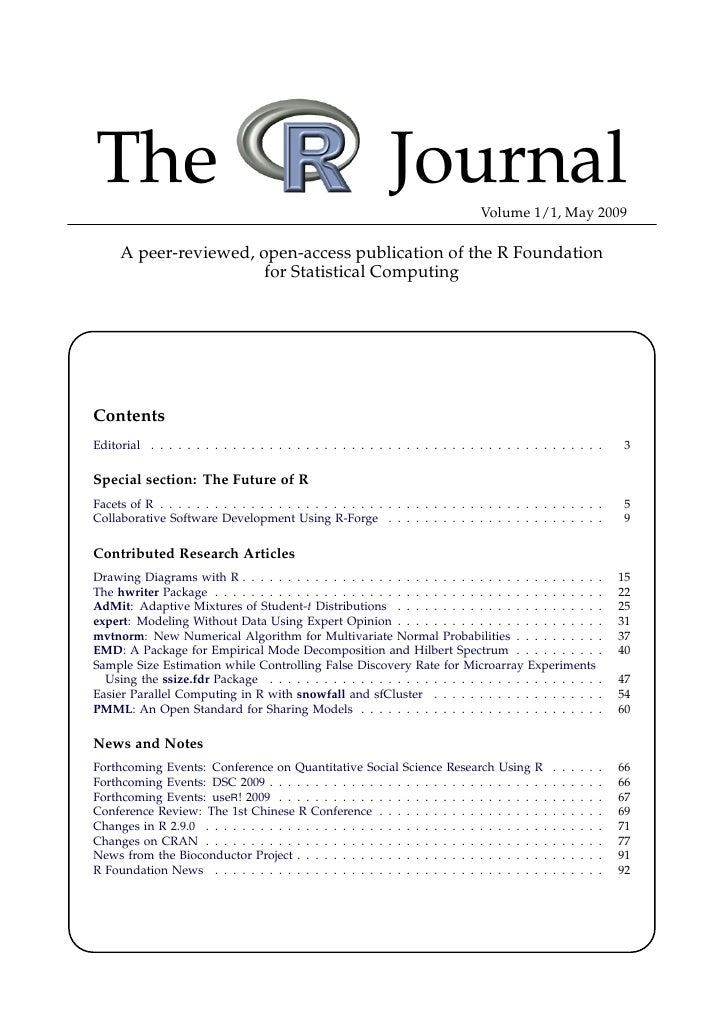 The                                                            Journal             Volume 1/1, May 2009       A peer-revie...