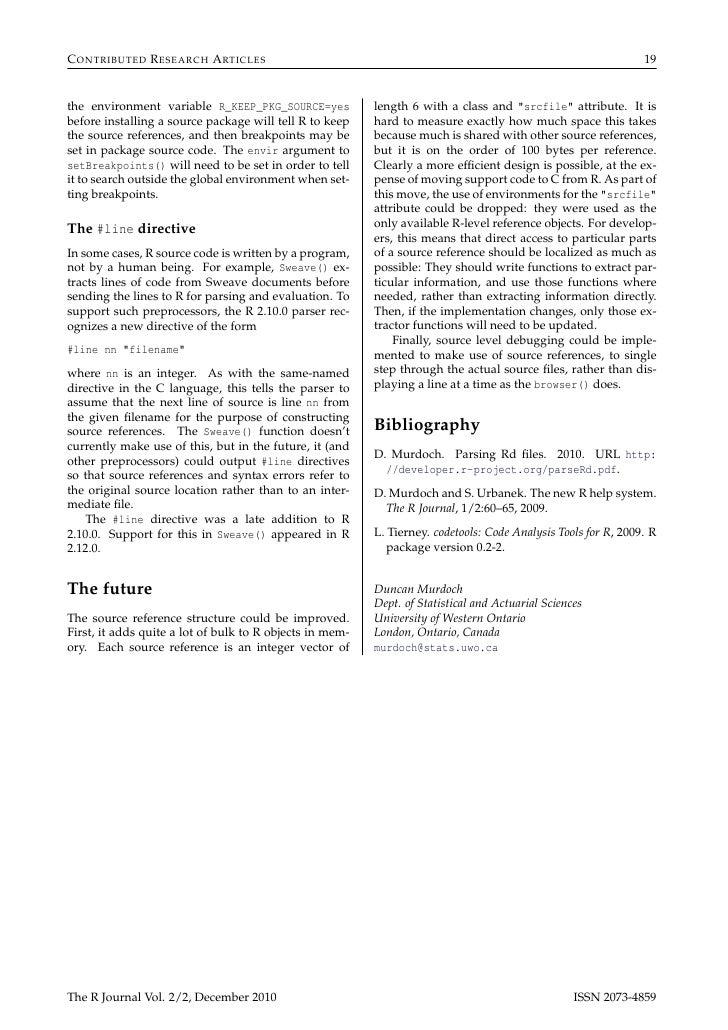 R journal 2010-2