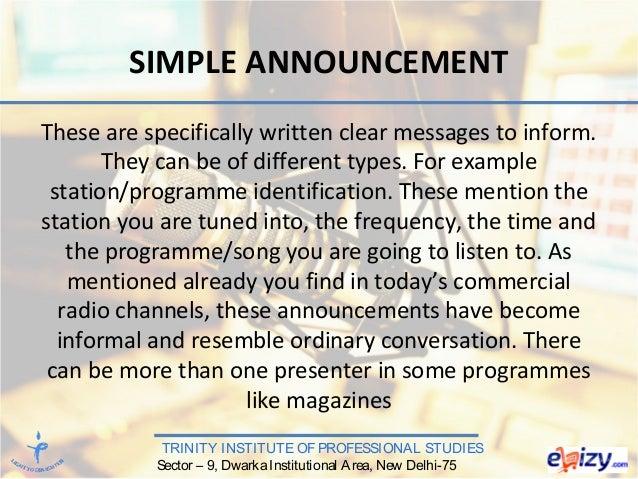 Radio Journalism & Production - RADIO FORMATS