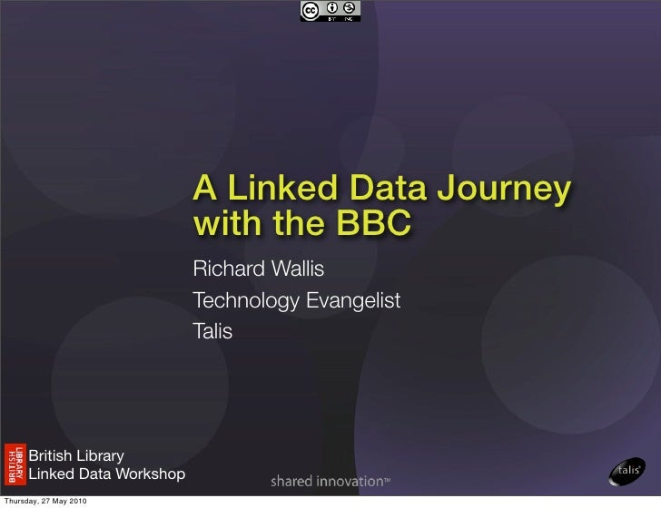 A Linked Data Journey                              with the BBC                              Richard Wallis               ...