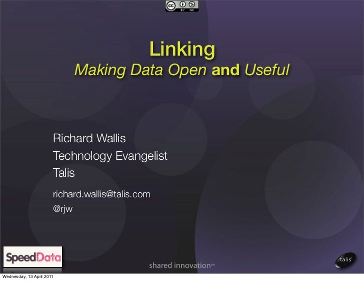 Linking                              Making Data Open and Useful                       Richard Wallis                     ...