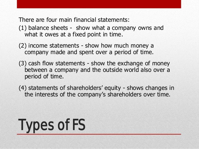 Financial Statement Types Types Of Financial Reports Financial