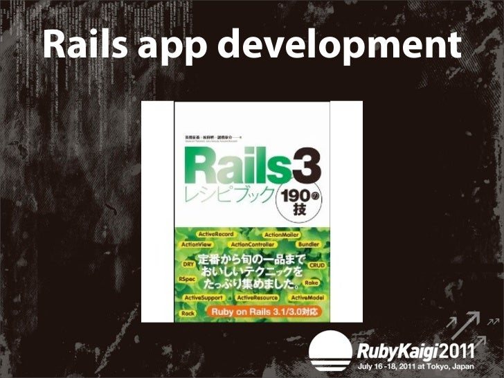 """To develop """"rails""""Is to write a software    not just for you"""