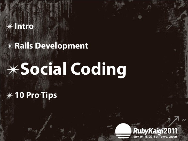 """Get yourself involved in     Social Coding  The way to be a    member of """"The Community"""""""