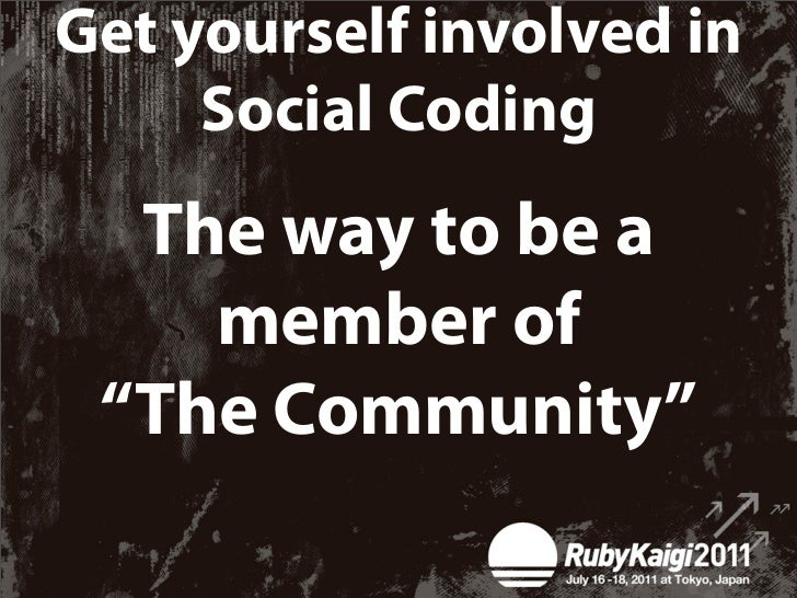 """""""The community""""✴A community that people communicate in Ruby code"""