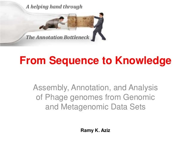 From Sequence to Knowledge Assembly, Annotation, and Analysis of Phage genomes from Genomic and Metagenomic Data Sets A he...
