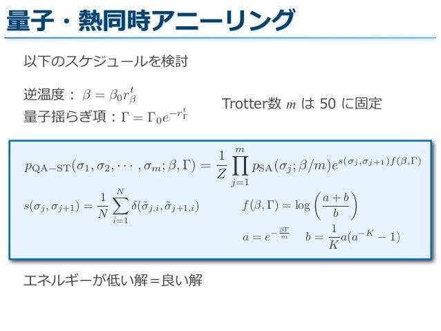 量子アニーリングを用いたクラス...