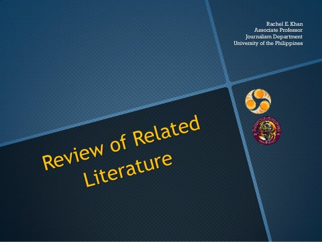 how to write related literature in thesis