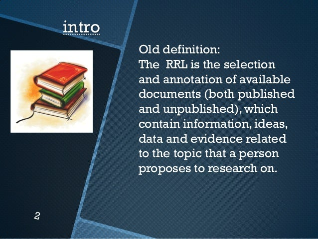 review of related literature in thesis View review of related literature and studies from math 111 at oxford college of commerce, lahore review of related literature and studies this study seeks to.