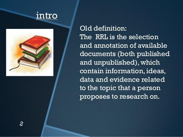 literature review intro